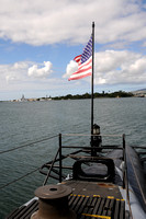 Pearl Harbor, Hawaii from the WWII submarine USS Bowfin