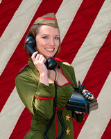 WWII Pinup Model