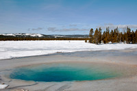 Winter at the geyser basin
